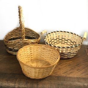 Set of three vintage baskets